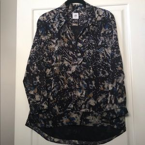 Cabi Starry Night printed blouse, size small
